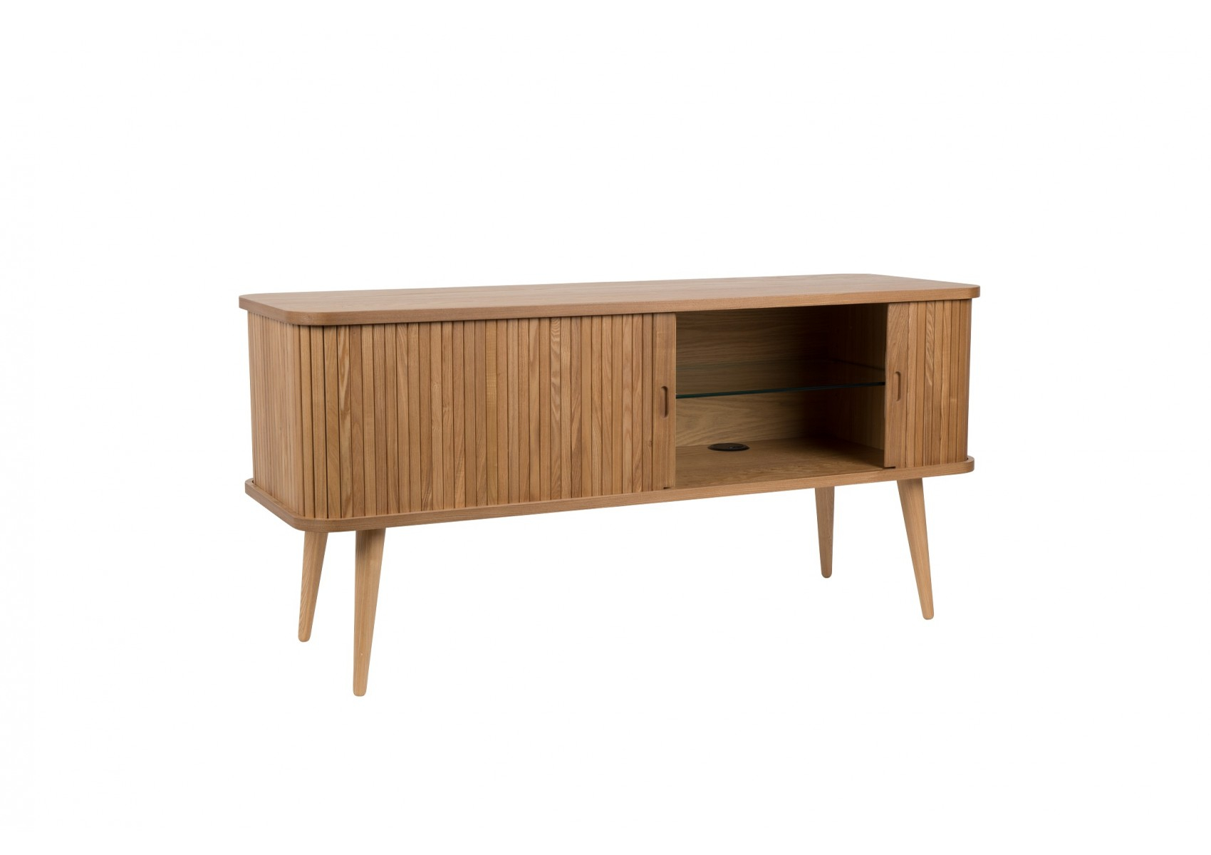 Buffet En Bois Au Design Scandinave Sideboard Barbier Par Zuiver # Meuble Tv Coulissant