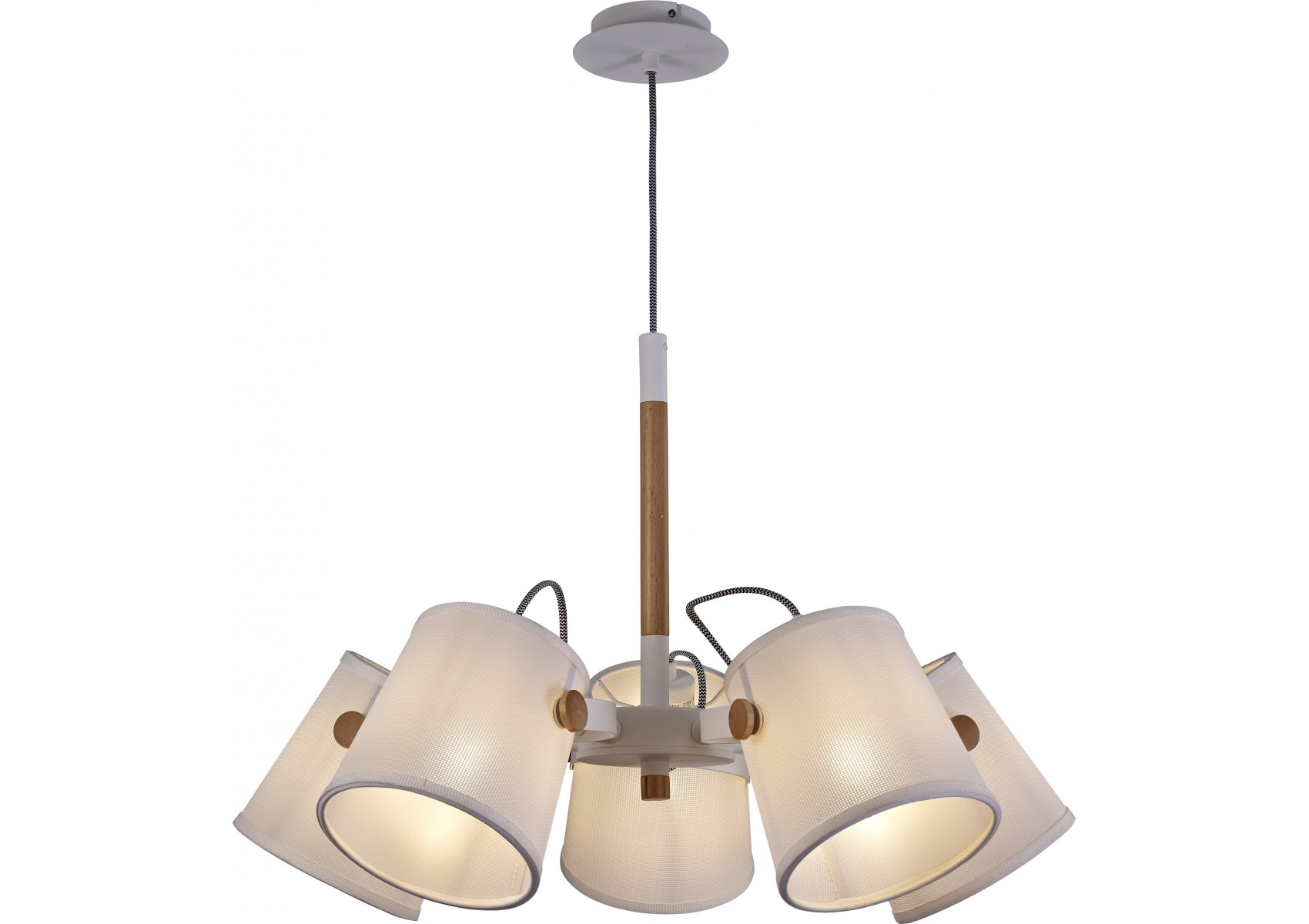 Suspension scandinave nordica 5 lampes mantra boite for Suspension 3 lampes