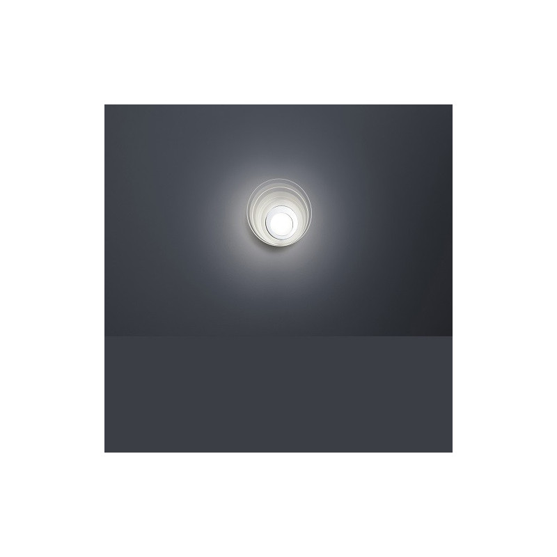 Applique design Eclipse LED en chrome et verre