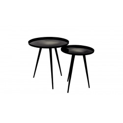 Set de deux tables d'appoint design Flow
