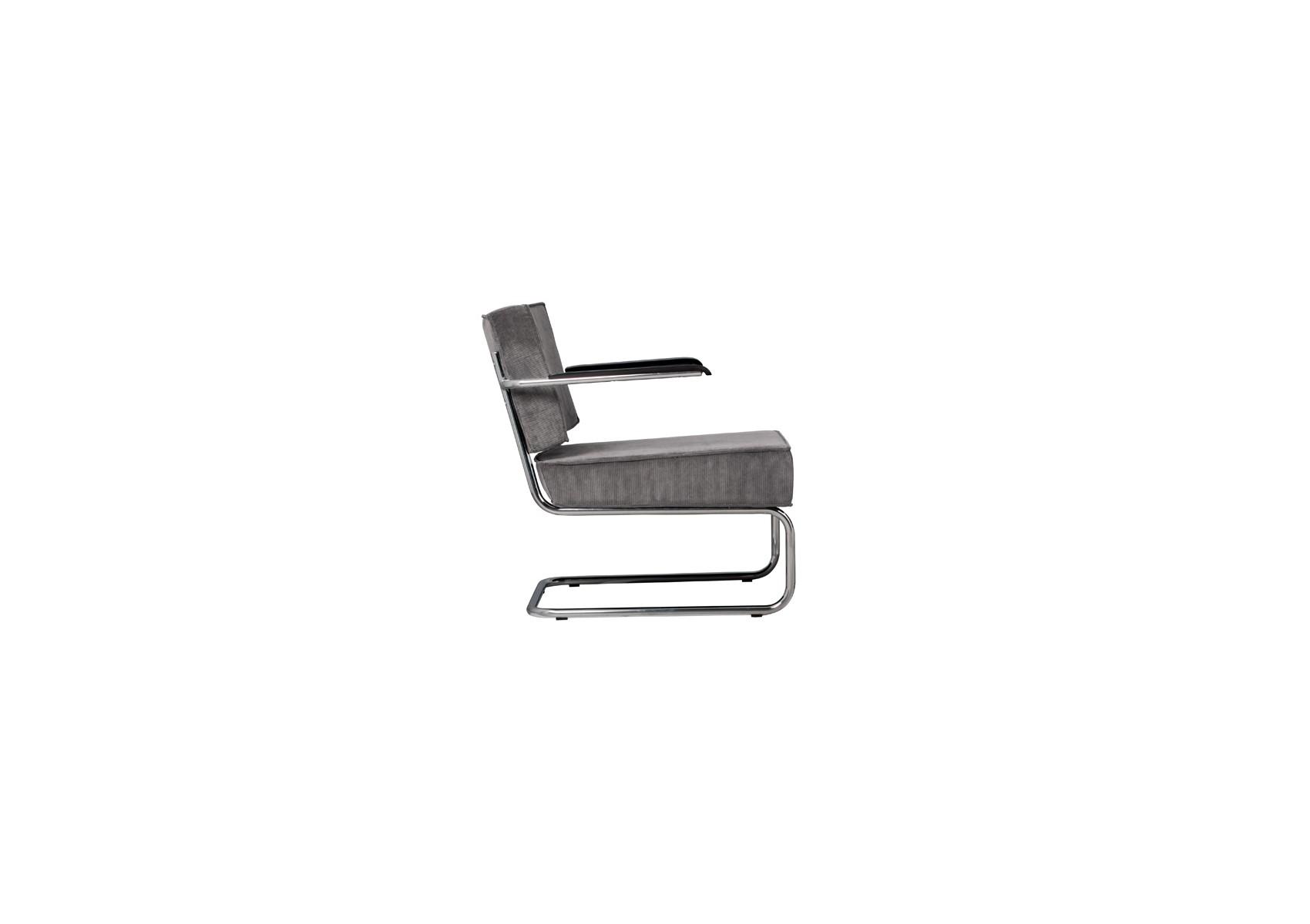 fauteuil design collection ridge lounge rib avec accoudoir de zuiver. Black Bedroom Furniture Sets. Home Design Ideas