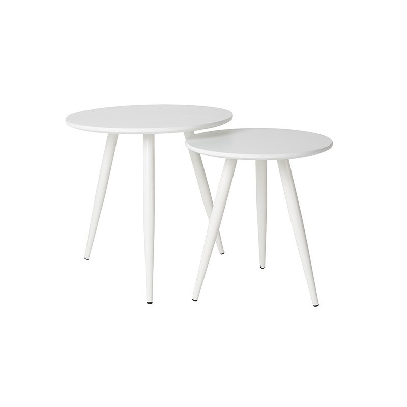 Set de deux tables d'appoint design Daven