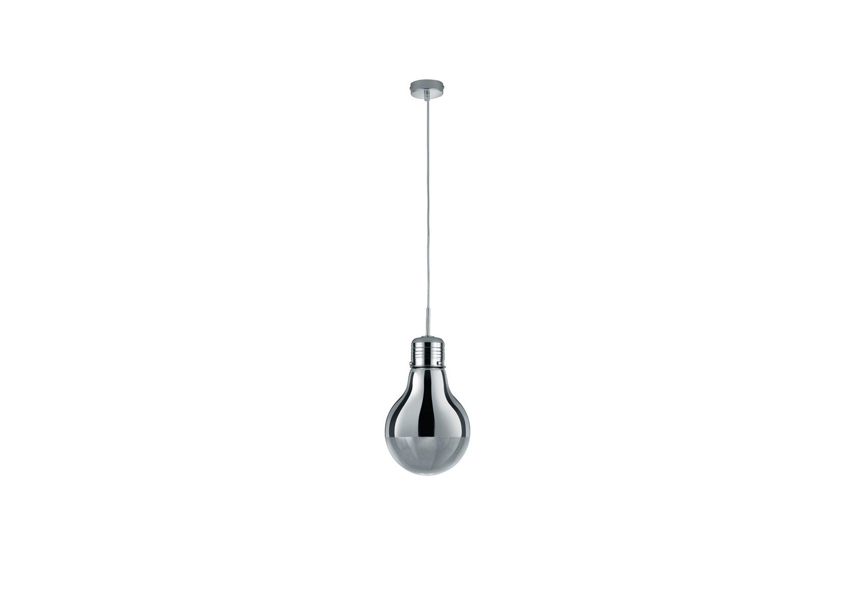 Grande suspension design edison ampoule chrom boite design - Grande suspension design ...