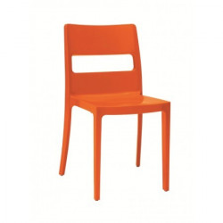 4 chaises design SAI orange - Destockage