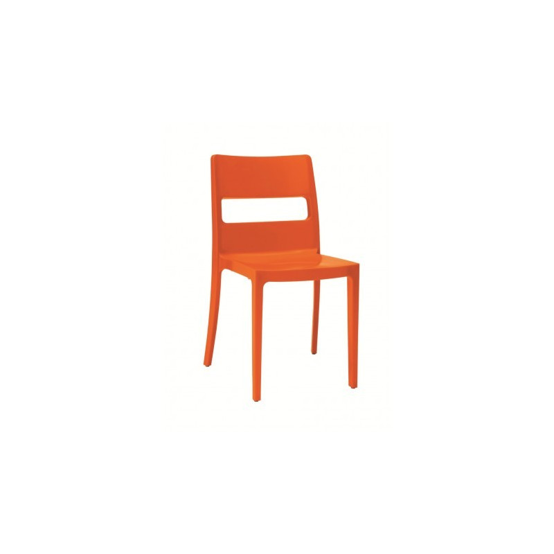 Chaises design sai orange - Destockage chaise design ...