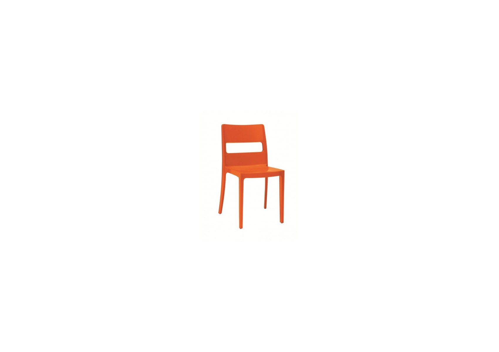 4 chaises design sai orange destockage boite design - Destockage chaise design ...