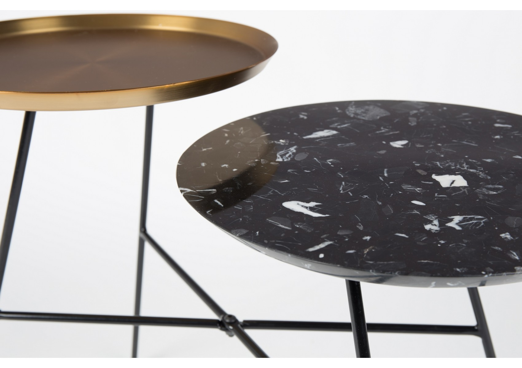 Table d 39 appoint design de la collection indy version or et - Table d appoint design ...