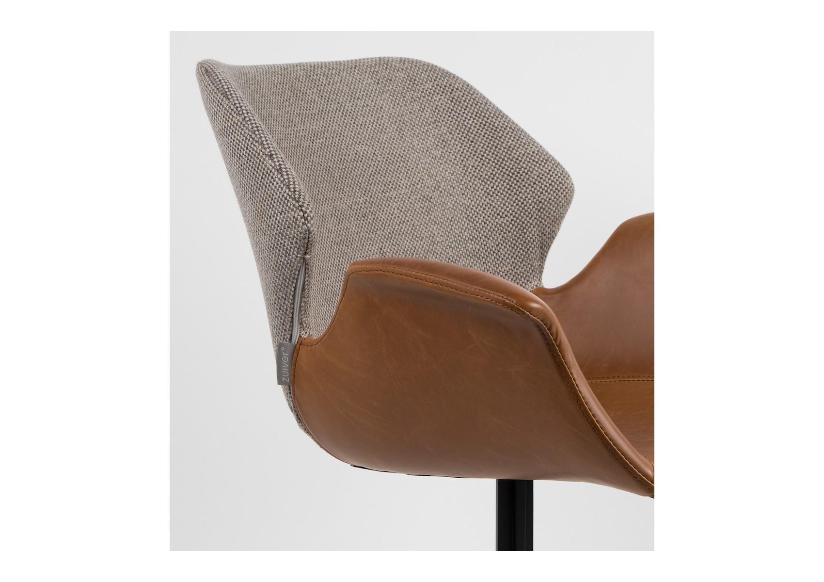 fauteuils design en cuir et tissu collection nikki chez zuiver. Black Bedroom Furniture Sets. Home Design Ideas