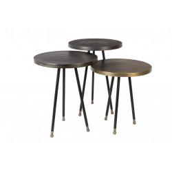 Set de trois tables d'appoint vintage Alim