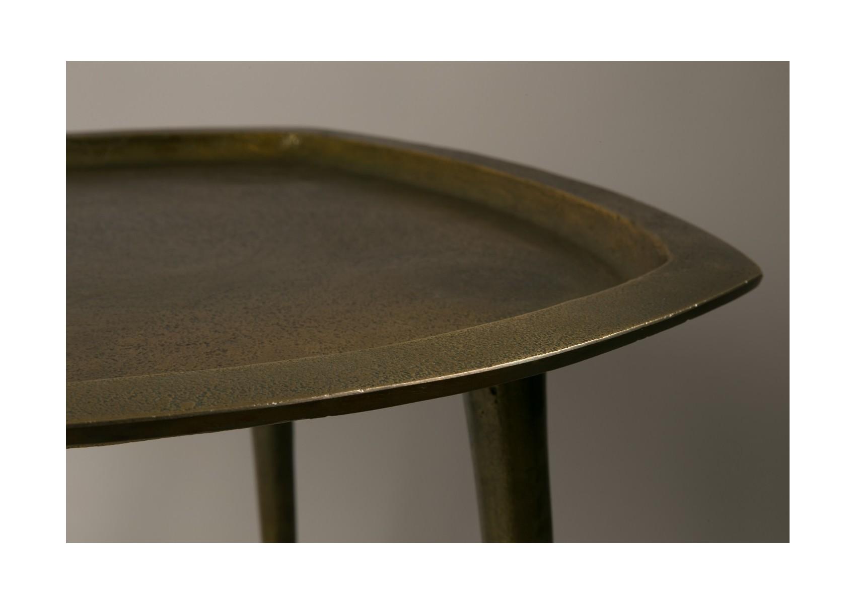 Table d 39 appoint design de la collection abbas de chez for Table d appoint miroir
