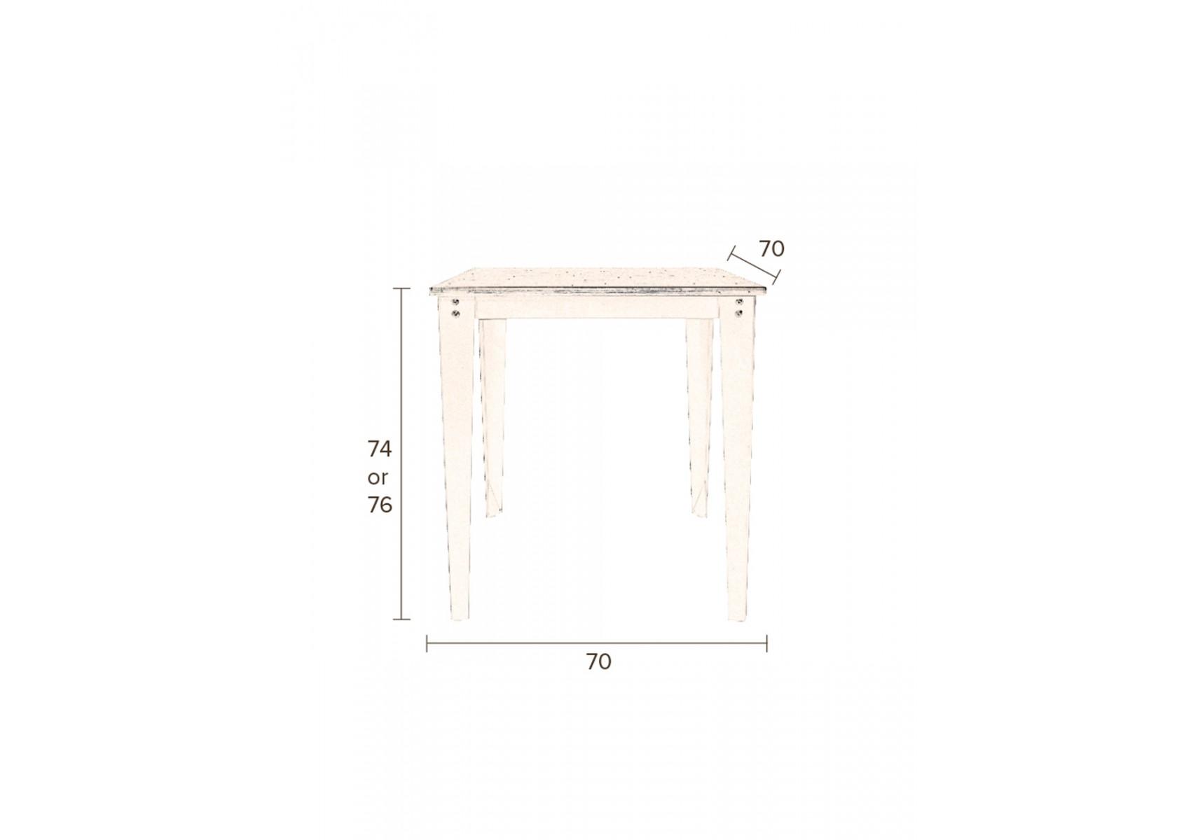 Table design petit mo le de la collection scuola de chez for Table 70x70 design