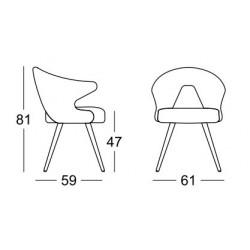 Fauteuil design en tissu YOU par SCAB design