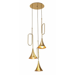 Suspension design jazz 3l or par mantra for Suspension trois lampes