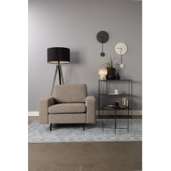 Fauteuil design en tissu gris JEAN par Zuiver