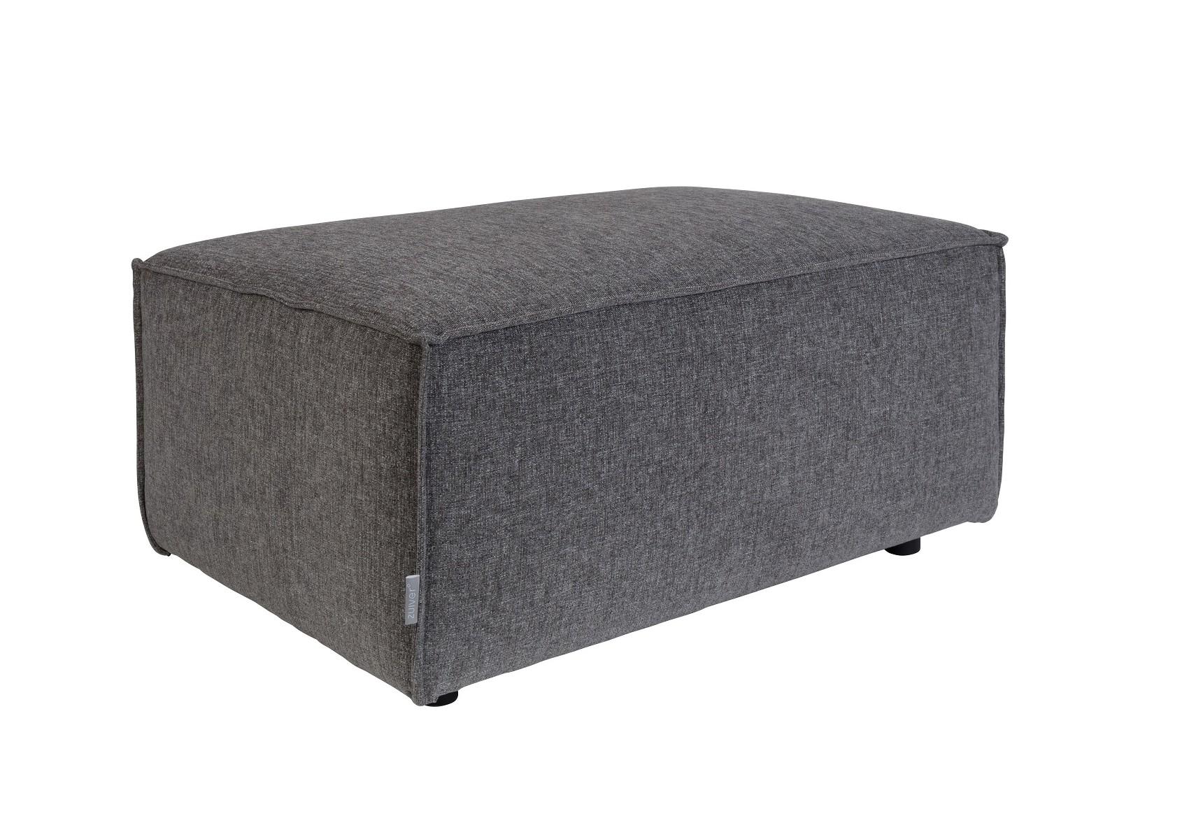 pouf design gris fonc de la collection king de chez zuiver. Black Bedroom Furniture Sets. Home Design Ideas