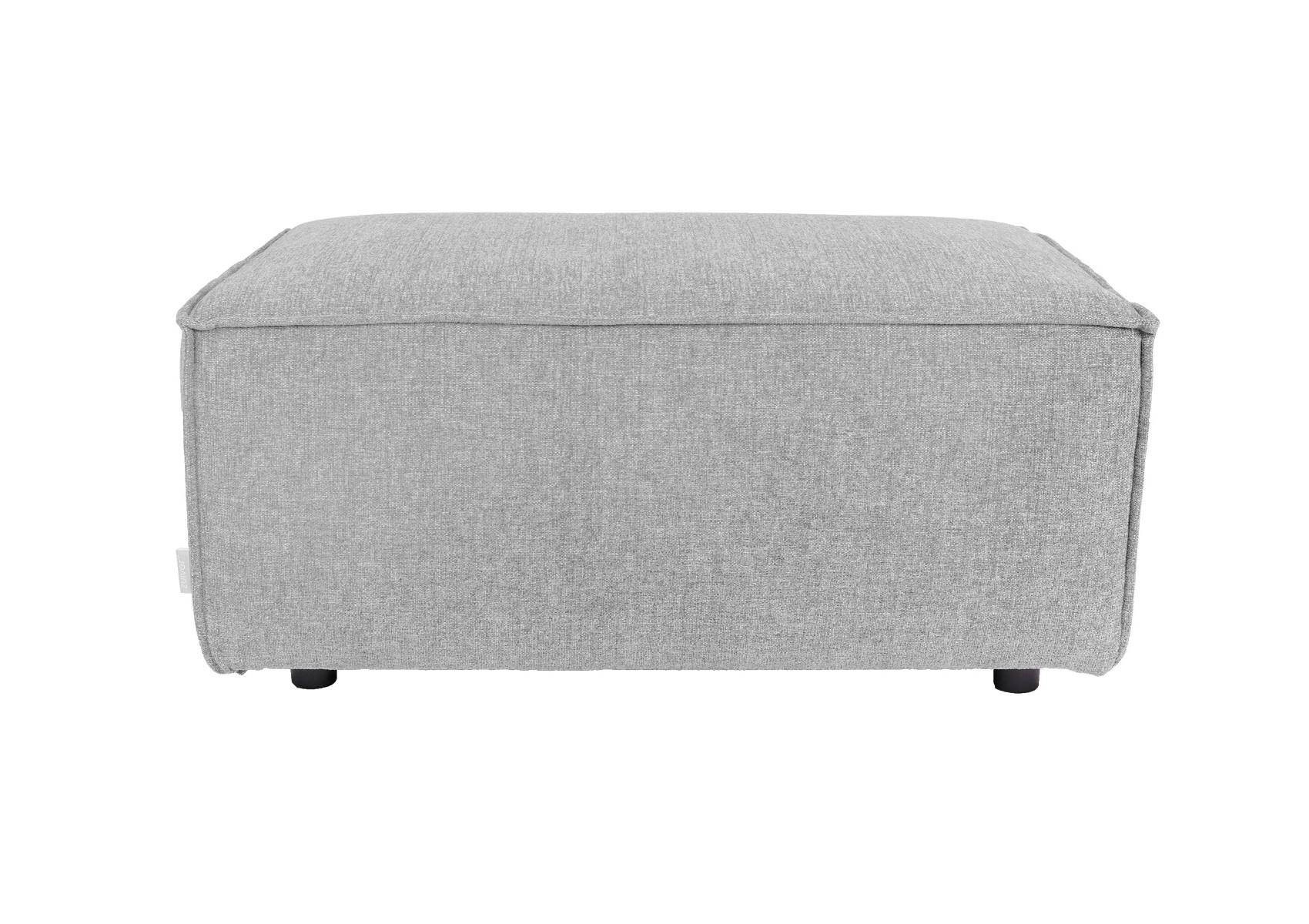 pouf design gris clair de la collection king de chez zuiver. Black Bedroom Furniture Sets. Home Design Ideas