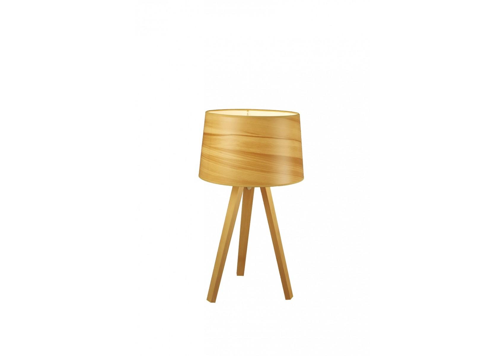 lampe tr pied en bois essence par aluminor. Black Bedroom Furniture Sets. Home Design Ideas