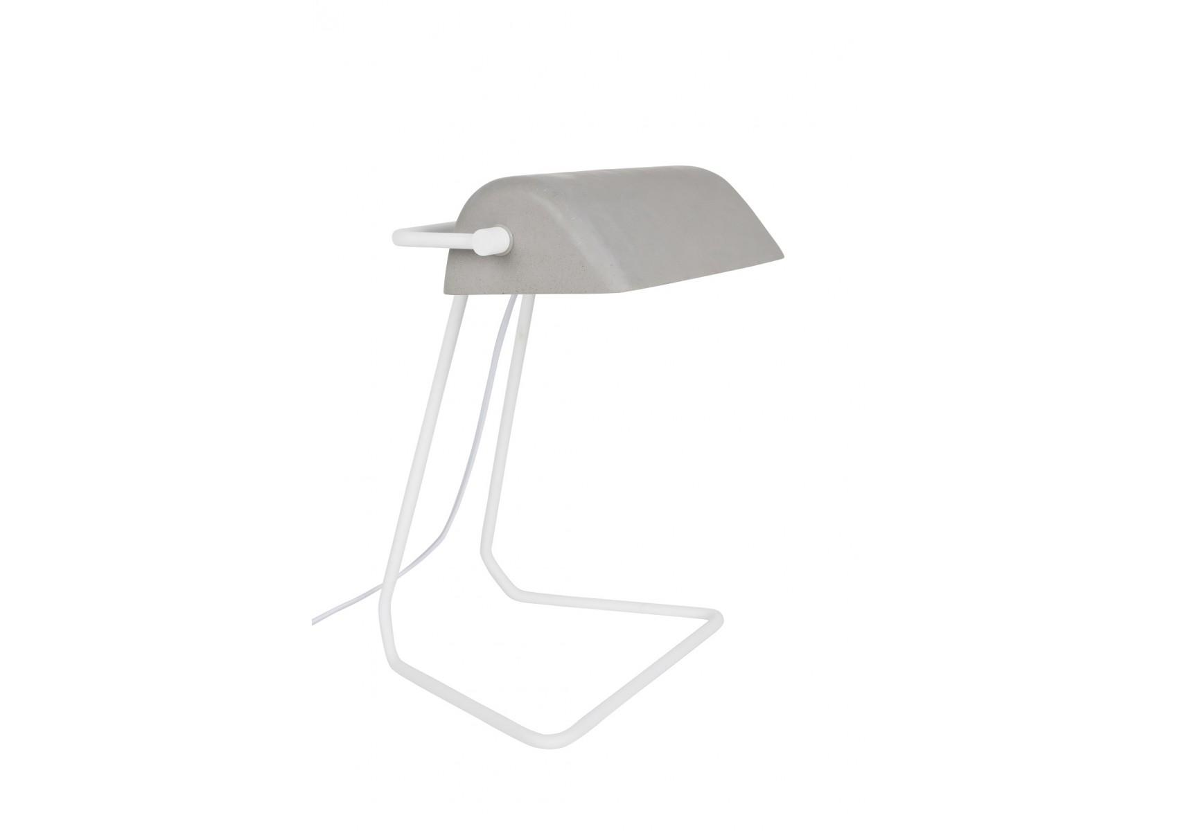 Lampe poser industrielle de la collection broker de chez for Lampe a poser industrielle