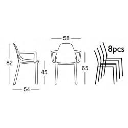 Fauteuil design Piu par Scab design