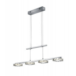 Suspension LED design Grenoble 4 lampes
