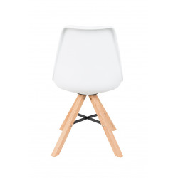 chaise blanche pied bois scandinave kell