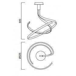 Suspension spirale Nur Forja à variateur 50W par Mantra