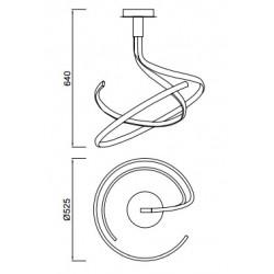 Suspension Nur spirale en métal à variateur 50W par Mantra