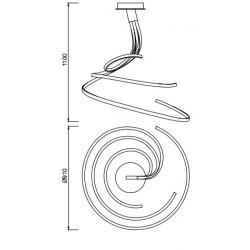 Suspension Nur Blanco à variateur 80W par Mantra