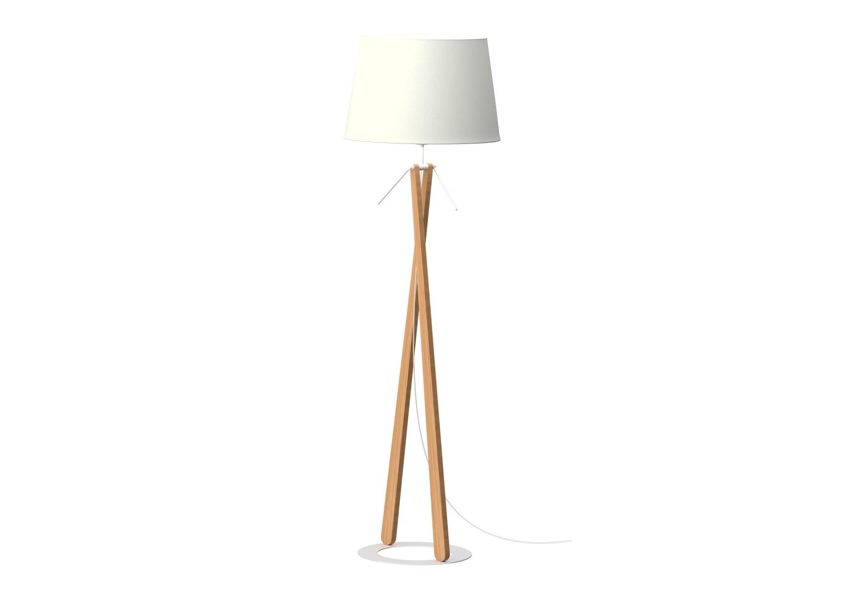 lampadaire en bois zazou ls par aluminor. Black Bedroom Furniture Sets. Home Design Ideas