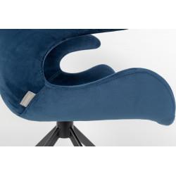 Fauteuil de bureau design revêtement velours Mia – Zuiver