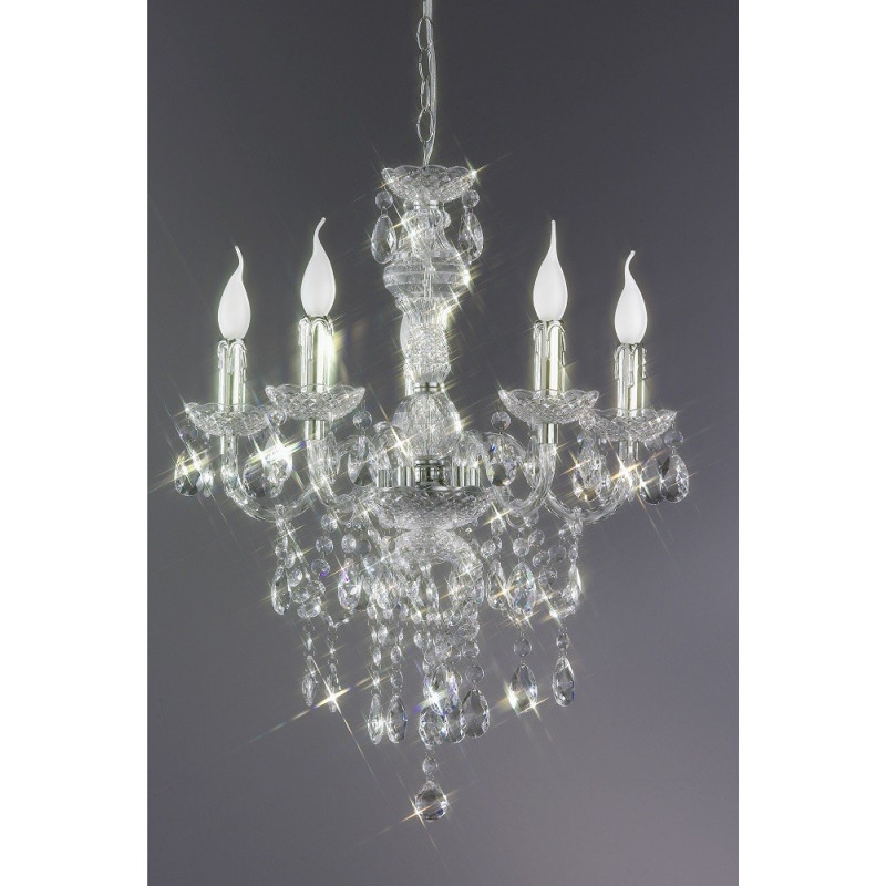 lustre chandelier baroque en 5 lampes disponible en plusieurs couleurs. Black Bedroom Furniture Sets. Home Design Ideas