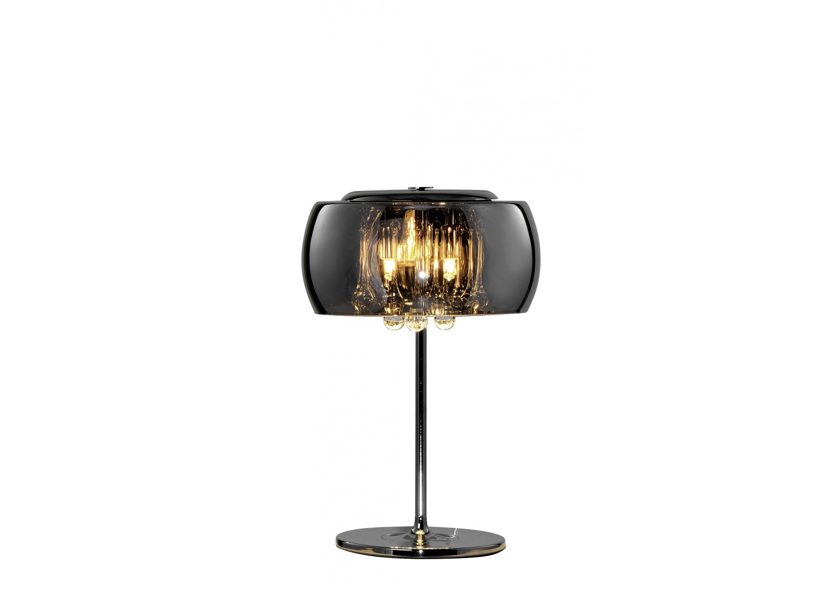 Lampe poser vapore la fois baroque et design en verre for Lampe de table rona