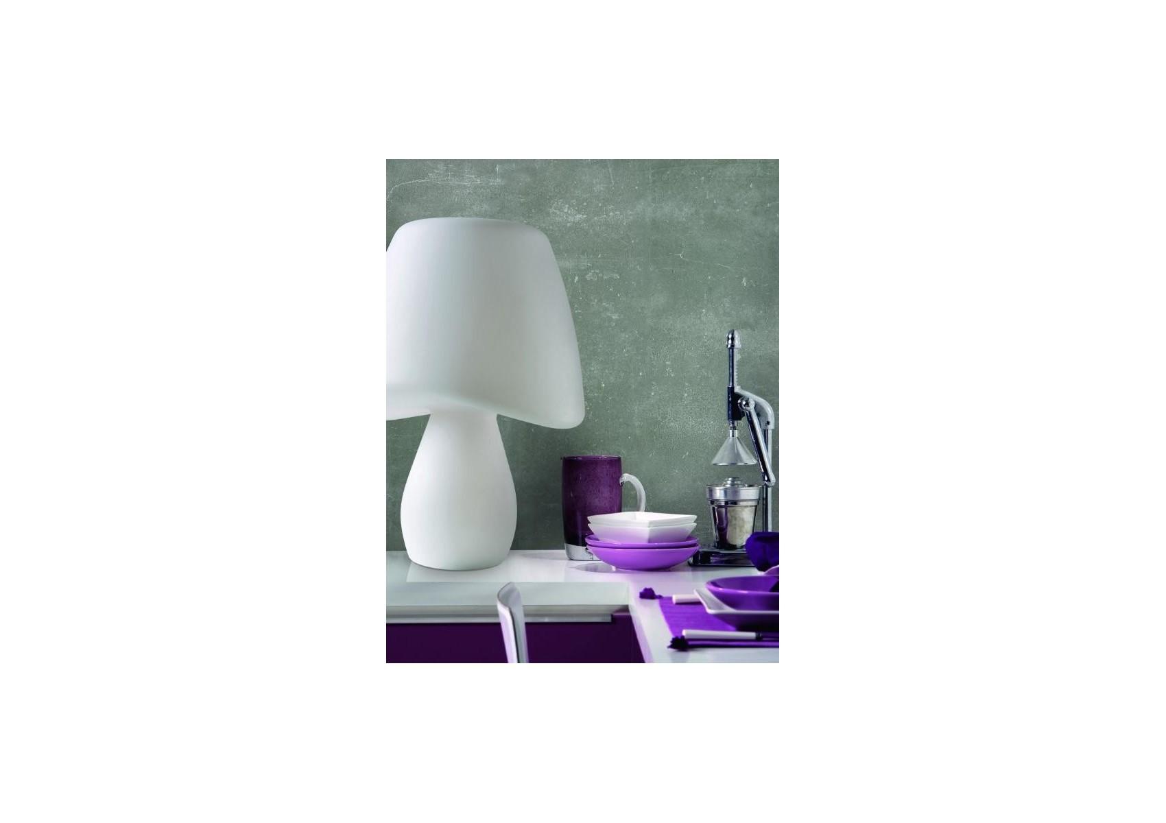 Lampe poser design cool ext rieur blanche de la marque for Lampe design exterieur