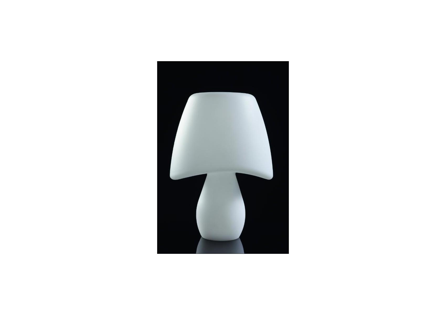 Lampe poser design cool ext rieur blanche de la marque for Lampe exterieur design