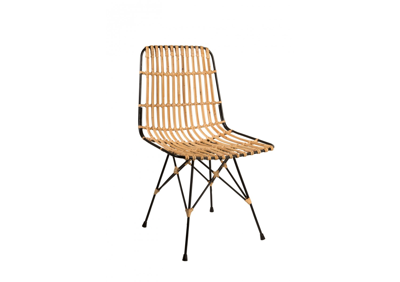 Chaise kubu en fibre naturelle design en m tal et kubu for Chaise en kubu pas cher
