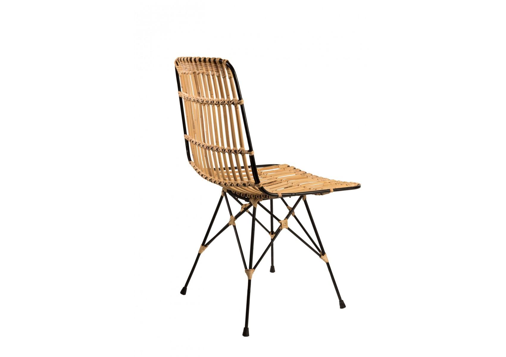 chaise kubu en fibre naturelle design en m tal et kubu. Black Bedroom Furniture Sets. Home Design Ideas