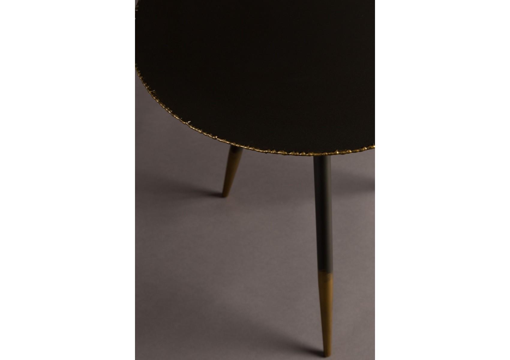 lot de 2 tables basses stalwart noir et or de chez dutchbone. Black Bedroom Furniture Sets. Home Design Ideas