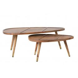 Tables basses gigogne en bois Sham - Dutchbone