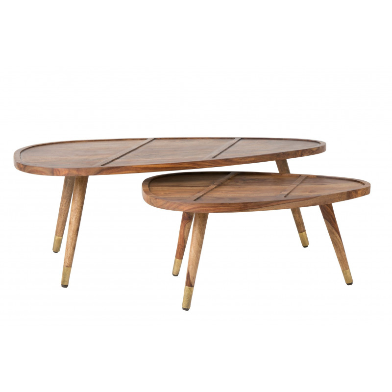Table Basse Gigogne Bois.Table Basse Gignone Sham En Bois De Sheesham Solide Et Beau A La Fois