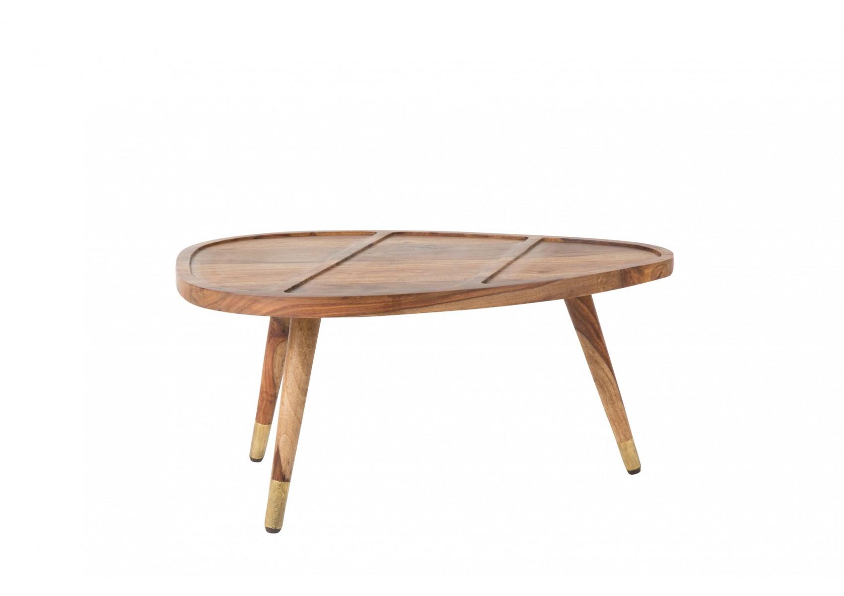 Table basse gignone sham en bois de sheesham solide et for Table basse gigogne bois