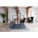 Banc en bois et métal Alagon industriel 160x40 cm - Dutchbone