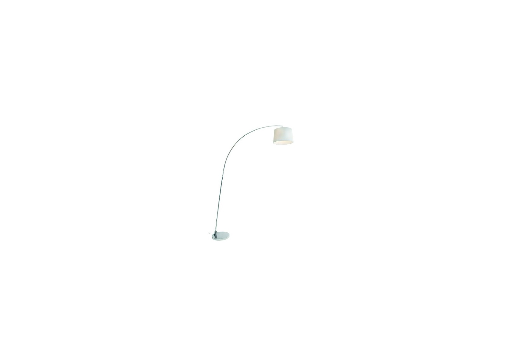 Lampadaire design arc ls de chez aluminor avec abat jour blanc - Lampadaire arc design ...
