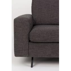 Canapé design tissu anthracite JEAN