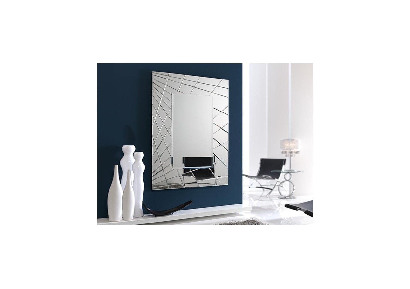 Miroir original design fusion rectangulaire deco for Miroir original