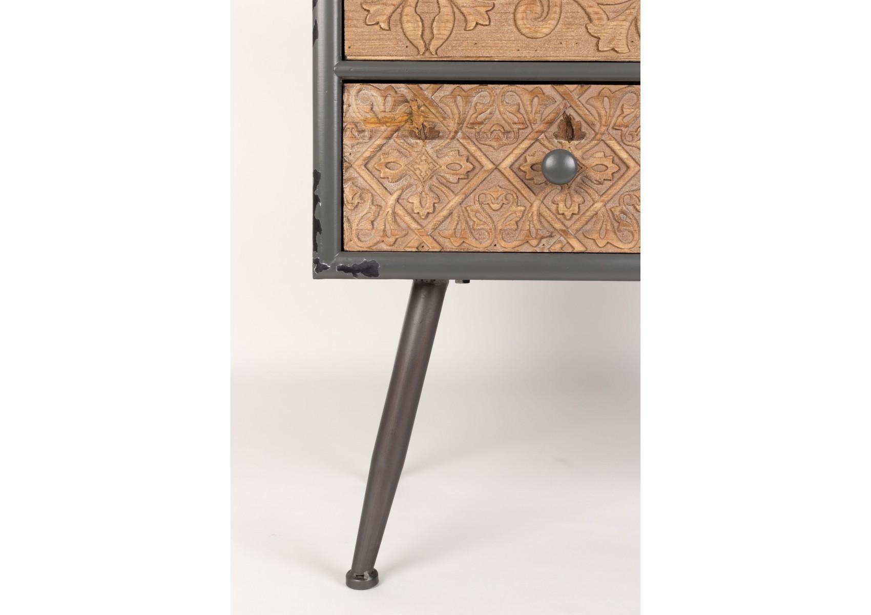 petit buffet style industriel chip boite design. Black Bedroom Furniture Sets. Home Design Ideas