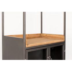 Meuble bar à vin en bois et métal Diaman - Boite à design