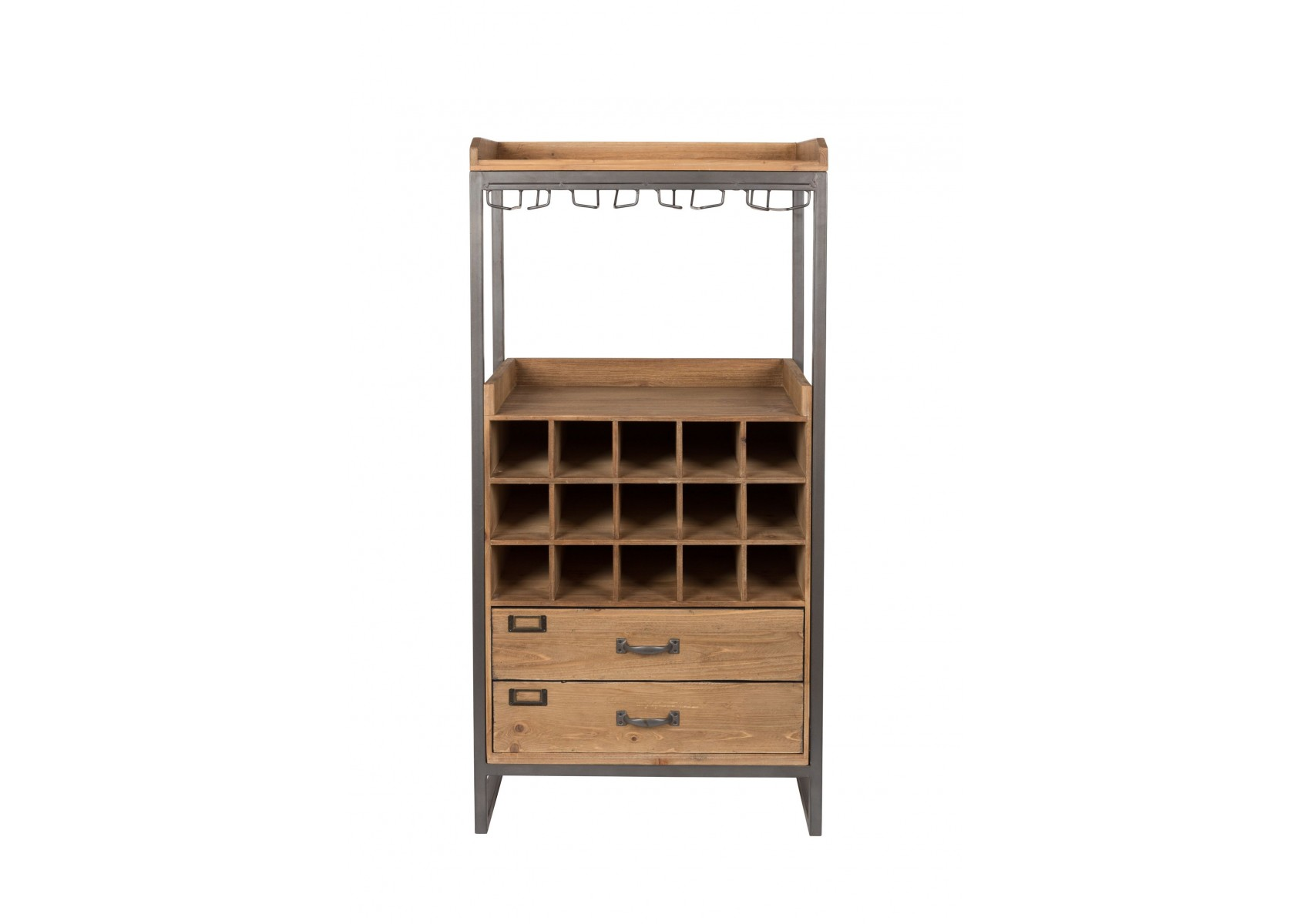 meuble bar vin en bois et m tal edgar boite design. Black Bedroom Furniture Sets. Home Design Ideas