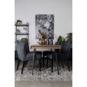 Chaise tissu Faye baroque - Boite à design