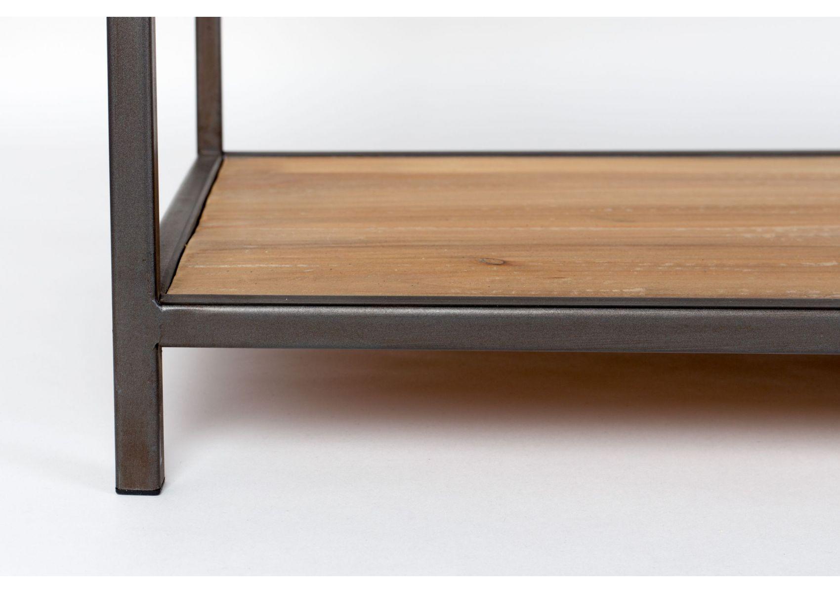 console bois massif et m tal style industriel samuel boite design. Black Bedroom Furniture Sets. Home Design Ideas