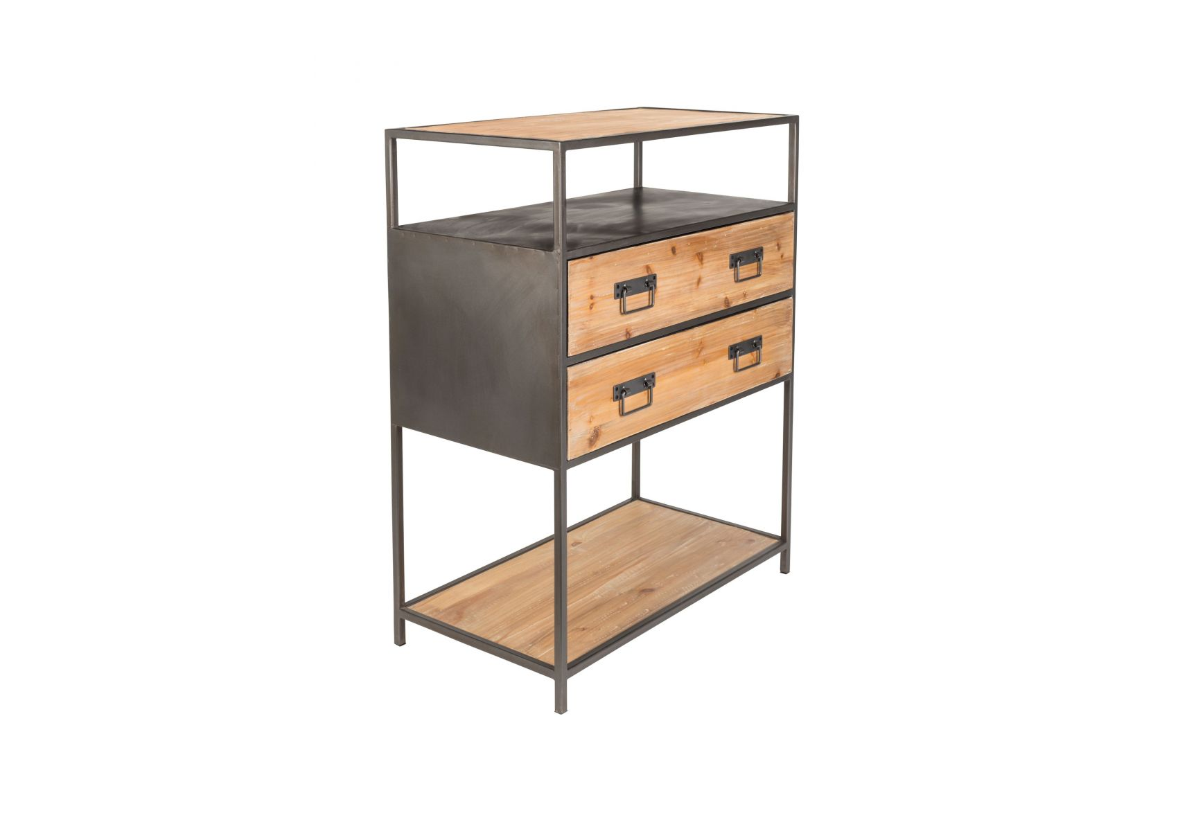 console bois massif et m tal style industriel samuel boite design. Black Bedroom Furniture Sets. Home Design Ideas